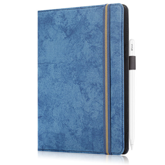 Case2go Samsung Galaxy Tab hoes - Wallet Book Case - 10.1 tot 10.8 inch - Donker Blauw