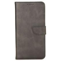 Case2go - Hoesje geschikt voor Huawei P40 Lite - Wallet Book Case -  Ruimte voor 3 pasjes - Zwart
