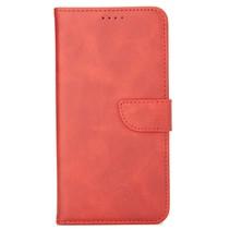 Case2go - Hoesje geschikt voor Huawei P40 Lite - Wallet Book Case -  Ruimte voor 3 pasjes - Rood