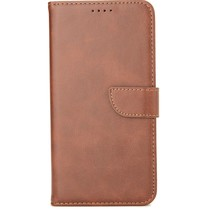 Case2go - Hoesje geschikt voor Xiaomi Mi Note 10 - Wallet Book Case -  Ruimte voor 3 pasjes - Donker Bruin