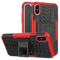 iPhone Xs Max Hoesje - Schokbestendige Back Cover - Rood