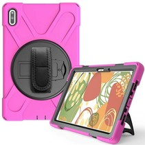 Huawei MatePad 10.4 Cover - Hand Strap Armor Case - Magenta