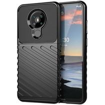 Case2go - Hoesje geschikt voor Nokia 5.3 - Schokbestendige TPU Back Cover - Zwart