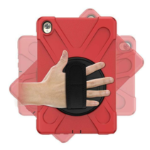 Huawei MediaPad M6 10.8 Cover - Hand Strap Armor Case - Rood