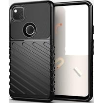 Case2go - Hoesje geschikt voor Google Pixel 4a - Schokbestendige TPU Back Cover - Zwart