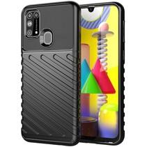 Case2go - Hoesje geschikt voor Samsung Galaxy M31 - Schokbestendige TPU Back Cover - Zwart