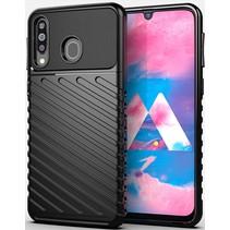 Case2go - Hoesje geschikt voor Samsung Galaxy M21 - Schokbestendige TPU Back Cover - Zwart