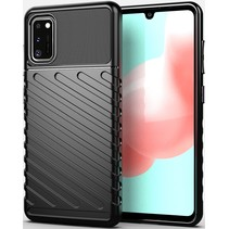 Samsung Galaxy A41 hoesje - Schokbestendige TPU back cover - Zwart