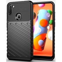 Case2go - Hoesje geschikt voor Samsung Galaxy A11 - Schokbestendige TPU Back Cover - Zwart