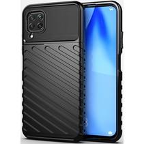 Case2go - Hoesje geschikt voor Huawei P40 Lite - Schokbestendige TPU Back Cover - Zwart