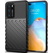 Case2go - Hoesje geschikt voor Huawei P40 - Schokbestendige TPU Back Cover - Zwart