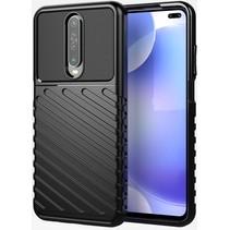 Case2go - Hoesje geschikt voor Xiaomi Poco F2 Pro - Schokbestendige TPU Back Cover - Zwart