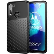 Case2go - Hoesje geschikt voor Motorola Moto G8 Power Lite - Schokbestendige TPU Back Cover - Zwart
