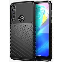 Case2go - Hoesje geschikt voor Motorola Moto G8 Power - Schokbestendige TPU Back Cover - Zwart