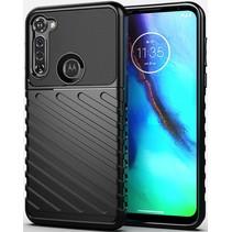 Motorola Moto G Pro hoesje - Schokbestendige TPU back cover - Zwart