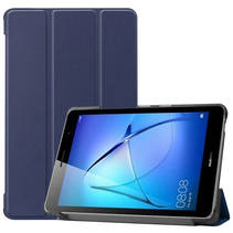 Huawei MatePad T8 hoes - Tri-Fold Book Case - Donker Blauw