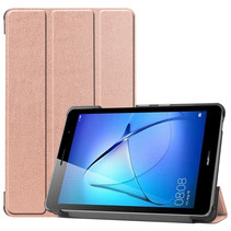Huawei MatePad T8 hoes - Tri-Fold Book Case - Rosé Goud