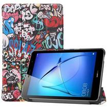 Huawei MatePad T8 hoes - Tri-Fold Book Case - Graffiti