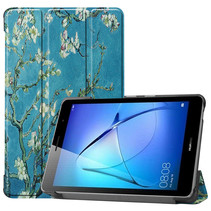 Huawei MatePad T8 hoes - Tri-Fold Book Case - Witte Bloesem