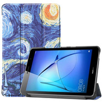 Huawei MatePad T8 hoes - Tri-Fold Book Case - Sterrenhemel