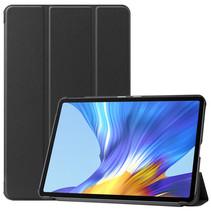 Huawei MatePad 10.4 hoes - Tri-Fold Book Case - Zwart