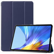 Huawei MatePad 10.4 hoes - Tri-Fold Book Case - Donker Blauw