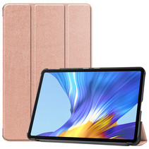 Huawei MatePad 10.4 hoes - Tri-Fold Book Case - Rosé Goud