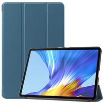 Huawei MatePad 10.4 hoes - Tri-Fold Book Case - Marine Blauw
