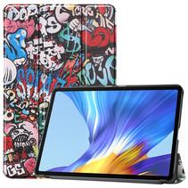 Huawei MatePad 10.4 hoes - Tri-Fold Book Case - Graffiti
