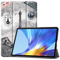 Huawei MatePad 10.4 hoes - Tri-Fold Book Case - Eiffeltoren