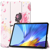 Huawei MatePad 10.4 hoes - Tri-Fold Book Case - Flower Fairy