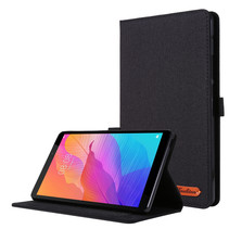 Huawei MatePad T8 hoes - Book Case met Soft TPU houder - Zwart