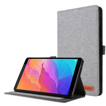 Huawei MatePad T8 hoes - Book Case met Soft TPU houder - Grijs