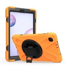 Samsung Galaxy Tab A 8.4 (2020) Cover - Hand Strap Armor Case Met Pencil Houder - Oranje