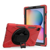 Samsung Galaxy Tab S6 Lite Cover - Hand Strap Armor Case Met Pencil Houder - Rood