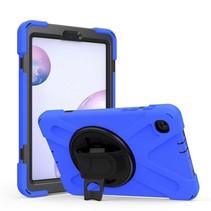 Samsung Galaxy Tab S6 Lite Cover - Hand Strap Armor Case Met Pencil Houder - Blauw