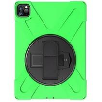 iPad Pro 11 (2018/2020) Cover - Hand Strap Armor Case - Groen