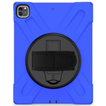 iPad Pro 12.9 (2018/2020) Cover - Hand Strap Armor Case - Blauw