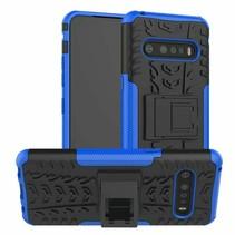 LG V60 ThinQ 5G Hoesje - Schokbestendige Back Cover - Blauw