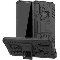 Motorola Moto E6 Plus Hoesje - Schokbestendige Back Cover - Zwart