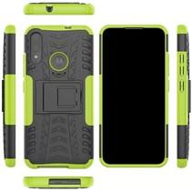 Motorola Moto E6 Plus Hoesje - Schokbestendige Back Cover - Groen