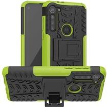 Motorola Moto G8 Power Hoesje - Schokbestendige Back Cover - Groen