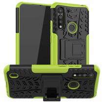 Motorola Moto G8 Power Lite Hoesje - Schokbestendige Back Cover - Groen