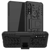 Motorola One Macro Hoesje - Schokbestendige Back Cover - Zwart