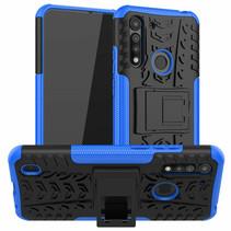 Motorola One Macro Hoesje - Schokbestendige Back Cover - Blauw