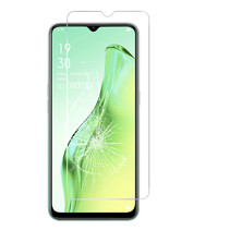 Oppo A31 Screenprotector - Tempered glass Screenprotector - Case-Friendly