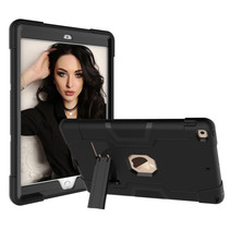 iPad Mini 4/5 Hoes - Schokbestendige Back Cover - Hybrid Armor Case - Zwart