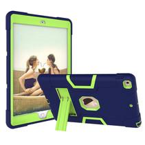 iPad Mini 4/5 Hoes - Schokbestendige Back Cover - Hybrid Armor Case - Blauw/Groen