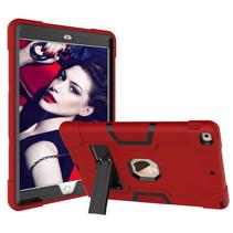 iPad Mini 4/5 Hoes - Schokbestendige Back Cover - Hybrid Armor Case - Rood/Zwart