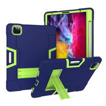 iPad Pro 11 (2020) Hoes - Schokbestendige Back Cover - Hybrid Armor Case - Blauw/Groen